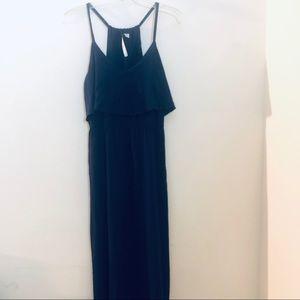 Lc Lauren Conrad navy blue maxi dress